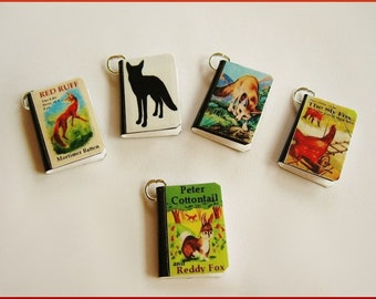 Fox Miniature Book Charms Set of all 5