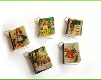 Charms Alice in Wonderland Miniature Books Set of all Five