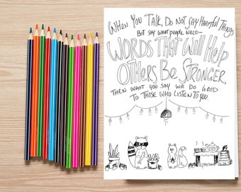 Bible Verse coloring page- Ephesians 4:29