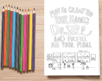 Bible Verse coloring page- Psalms 20:4
