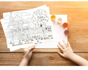 Bible Verse coloring page- Psalms 68:6a