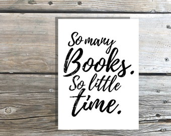 Bookish card printable PDF instant download book love friend gift