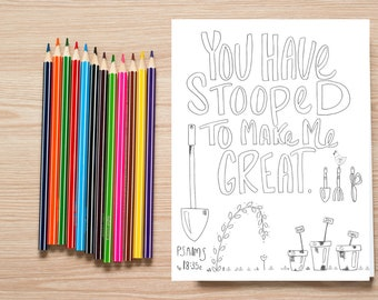 Bible Verse coloring page-Psalms 18:35c
