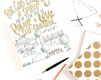 Bible Verse coloring page- 2 Timothy 1:7