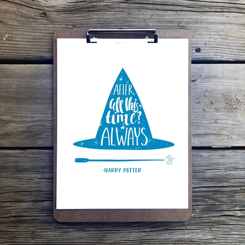 Harry Potter Print Quote Pdf Instant Download Book Bookish Lover Gift Printable Wall Art Kids Room Decor Boy Girl Childrens Diy Saying