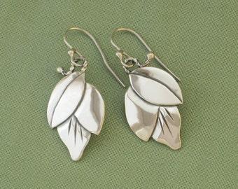 Earrings, Bud Earrings Sterling Silver, Handmade Earrings, Free Shipping