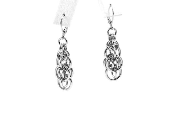 Stainless Steel Jewelry Stainless Steel Earrings Industrial Etsy