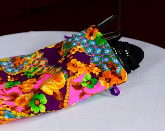 Doublé de velours sac à chaussures, violet et rose, jaune Roses