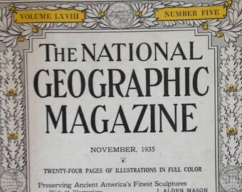 November, 1935 National Geographic Magazine