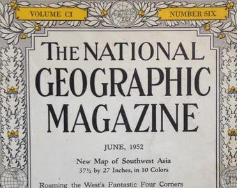 June, 1952 National Geographic Magazine
