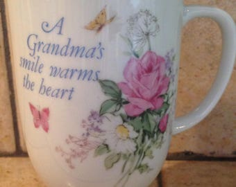 A Grandma's Smile Warms the Heart Footed Mug