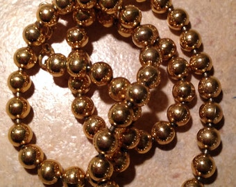 Gold Tone Bead Necklace