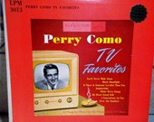 RCA Victor Perry Como TV Favorites Record