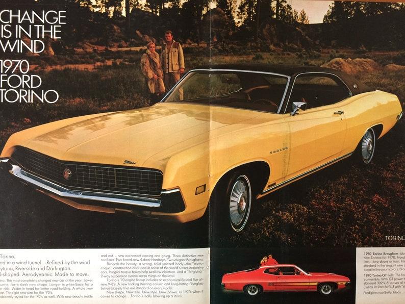 New Ford Torino >> 1969 Ford Torino Advertisement Etsy