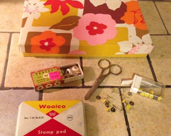 Vintage Home Office Flower Power Stationery Box Collection