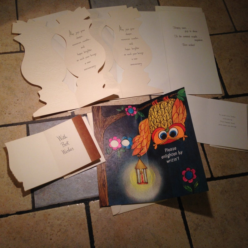 Six Unused Greeting Cards