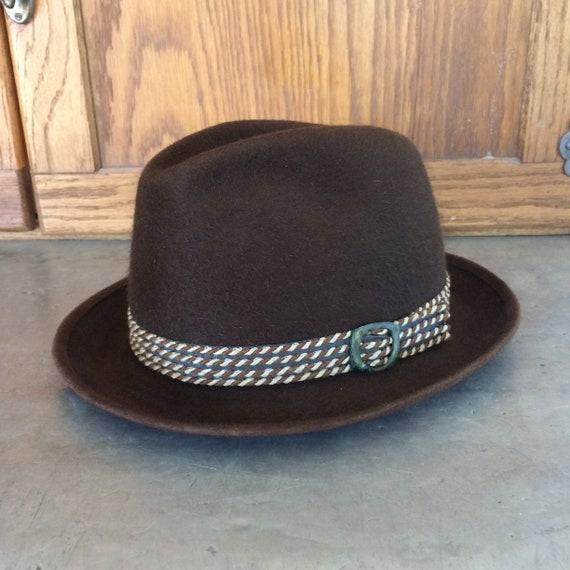 1970s Beaver Blend Brown Men's Fedora Hat by Stev… - image 1