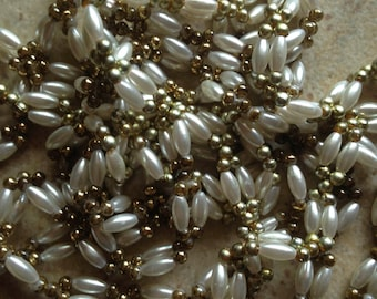 Handmade Pearl and Gold Infinity Necklace (2)