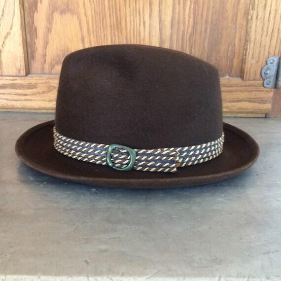 1970s Beaver Blend Brown Men's Fedora Hat by Stev… - image 2