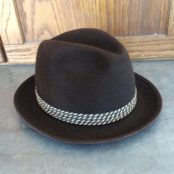 1970s Beaver Blend Brown Men's Fedora Hat by Stev… - image 4