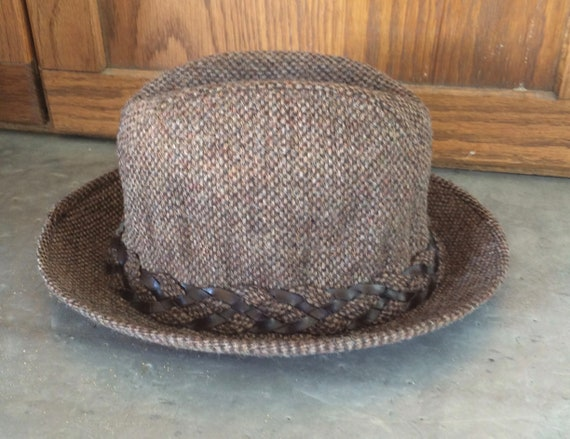 1970s Wool Brown Tweed Men's Fedora Hat by Stetson - image 3