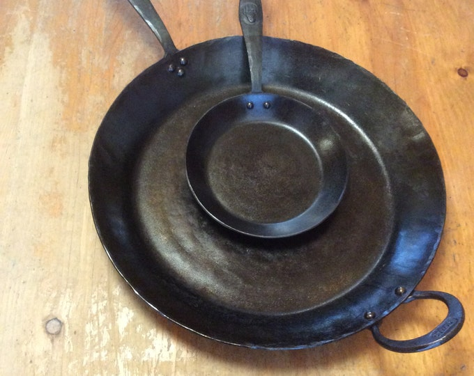 Extra large 15 inch carbon steel skillet