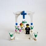 Wedding Cake Topper Lego Minifigures  - Custom Wedding Cake Topper Made of Lego® Bricks  - Bride & Groom Table Decoration -  Wedding Couple