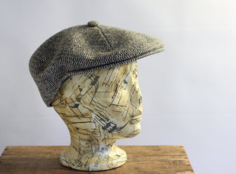 2a76914176d63 Tweed Browns Taupe Wool Kangol Newsboy Indie Hat Cap Beret