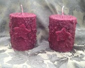 2 Grubby Cranberry scented pillars