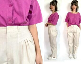 30 waist 80s Pleated Peach Pants Deadstock Unworn w Tags Vintage 1980s High Waisted Jara Dress Slacks