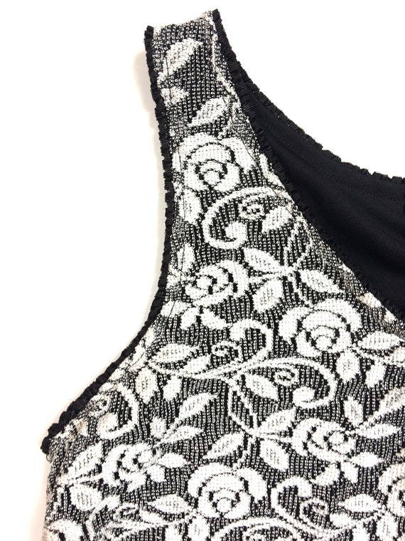 90s stretchy maxi / tube tank dress long / white … - image 7