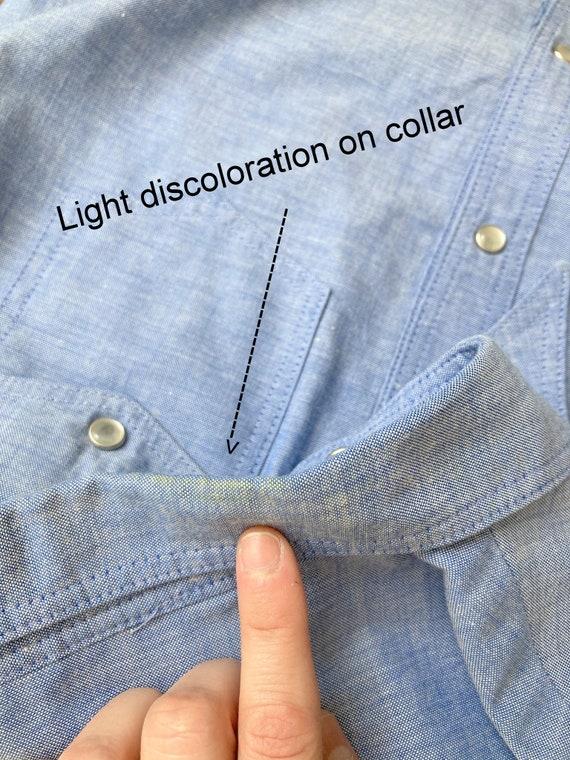70s cowgirl set / high waist flares / light denim… - image 7