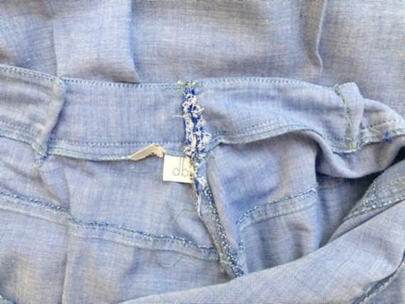 70s cowgirl set / high waist flares / light denim… - image 5