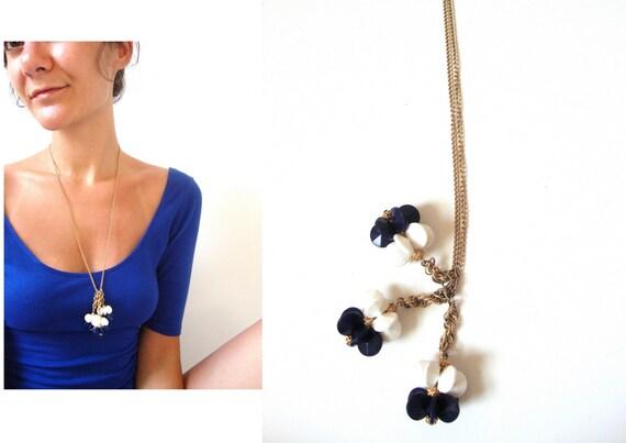 50s / 60s fabulous dangling bauble necklace / naut