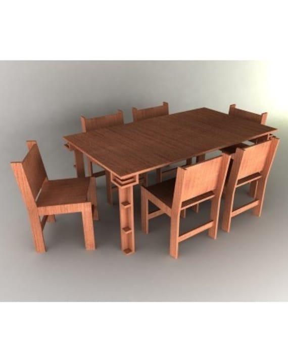 Dining Room Set Furniture Plans Etsy