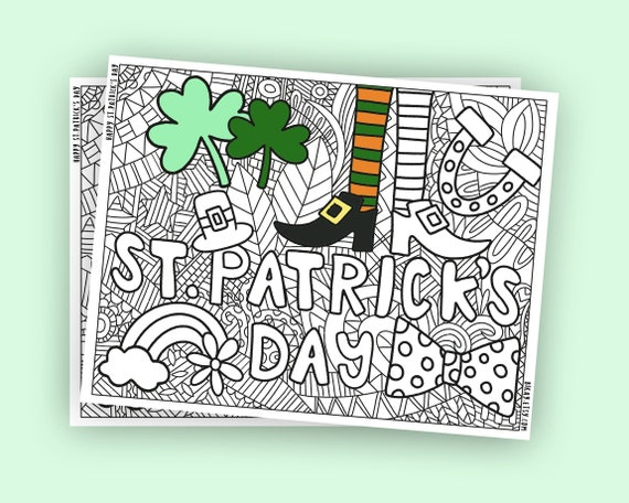 St. Patricks Day Coloring pages printable adult coloring