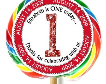 Candyland birthday invitation sticker lollipop stickers etsy 1st birthday stickers lollipop stickers first birthday party extra large personalized stickers fit on whirly lollipops filmwisefo
