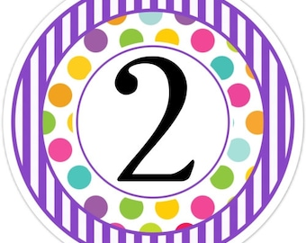Carnival Birthday Labels, Stripes and Dots, Personalized Circus Stickers, Birthday Decoration, Carnival Favors, Circus Party Favors