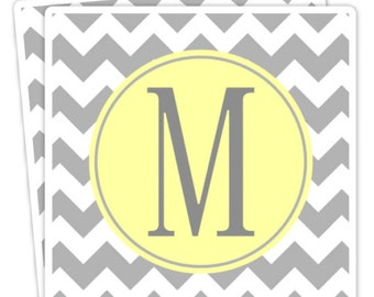 Custom Wedding or Bridal Shower Labels, Chevron Wedding Stickers, Monogram - 2 inch SQUARE - Personalized for YOU