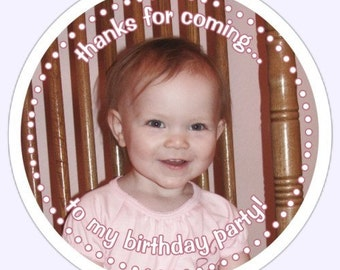 Round PHOTO Stickers, Custom Labels - Personalized for You with YOUR Photo