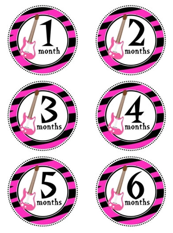 baby month to month stickers monthly birthday stickers for etsy