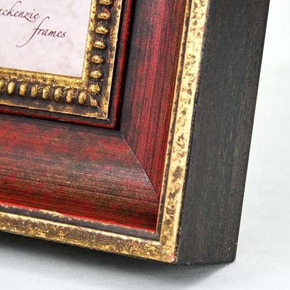 5x5 Inch Red And Gold Photo And Picture Frame Antique Etsy