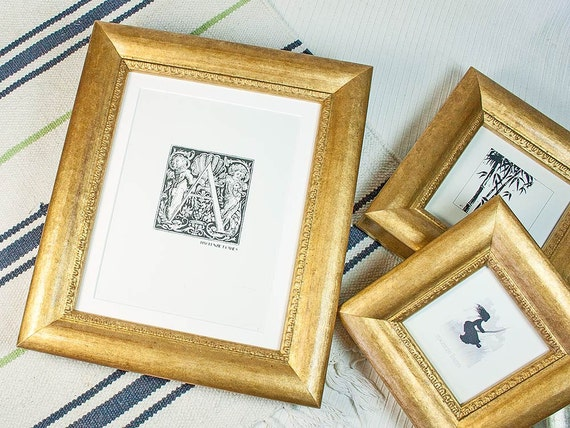 86f61888639 8x10 inch Old Gold Chunky Style Photo Frame Silver Wedding
