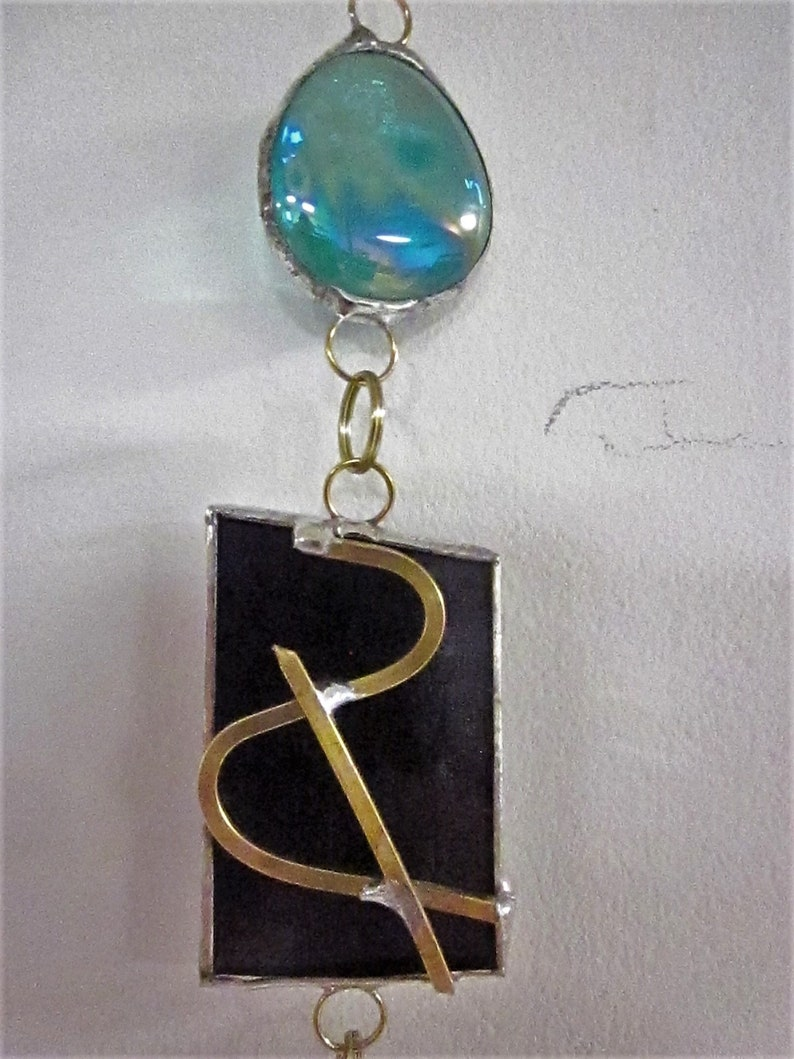 Stained Glass Suncatcher ~ Gray Eclipse