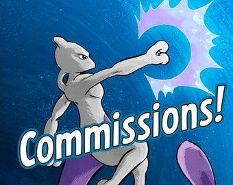 POKEMON COMMISSIONS! Custom illustrations of your favourite Pokémon (or Poke-fusions!) drawn by Alex Hahn.