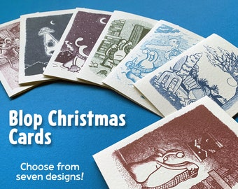 Blop Christmas Cards – 7 designs to choose from!