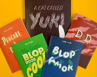 ALL the BLOPSHOP MINIS! – A special offer on Alex Hahn's mini comic anthology series.