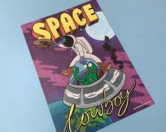 "A3 Poster: ""SPACE COWBOY"""