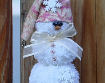 MINI PATTERN........................Buster the Snowman ornament 131bE