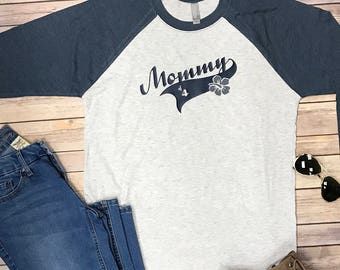 Mommy baseball tee